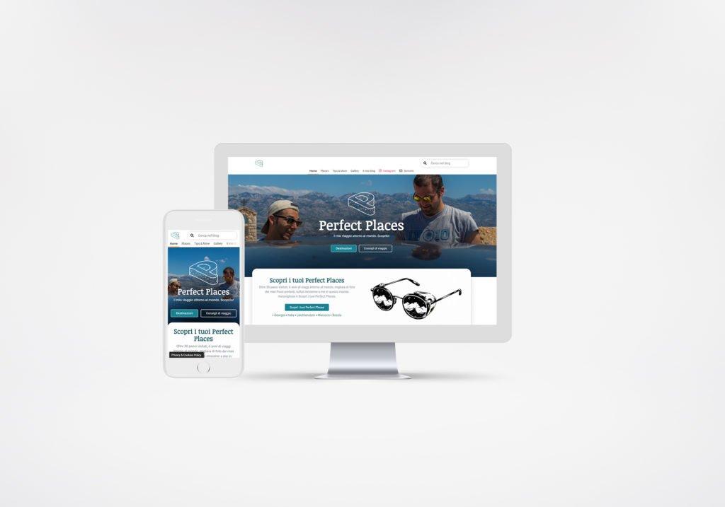 web design mockup perfect places